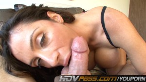 Ariella Ferrara Sucking White Stiff Meat POV