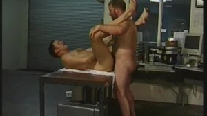 Muscled Hunks Ass Fucking In The Office