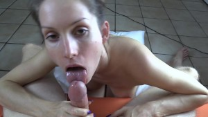 Licking YOUR balls and sucking your cock til you cum on my face