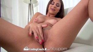 CastingCouch-X - Sexy latina Nina North takes huge facial
