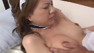 Asian maid getting fucked hard
