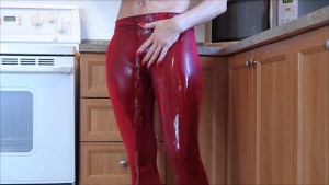 Audrey, show her ass in yoga paints