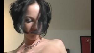 skinny raven girl stip s - Jul