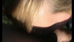 Blonde gives blowjob outside - Julia Reaves