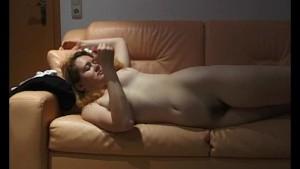 Blonde rubs her hairy pussy - Julia Reaves