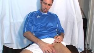 My innocent neighbour made a porn: watch him wanking his big**.
