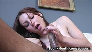 Exotic lovely girl Jordan O Neil Sucks Fucks Big Cock for messy facial