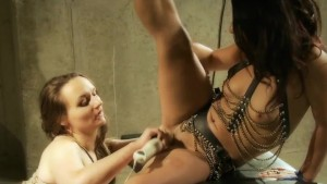 sex slave blows her masters dick while mistress fucks her tight vagina only at pornmike.com