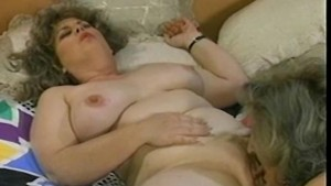 Dildo-sharing old busty sluts