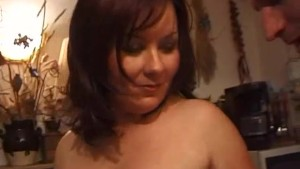 Busty amateur mom sucks and fu