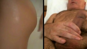 Man masturbates watching young pool shower room couple