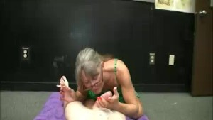 Milf Offers Her Sensual Handjob While Smoking