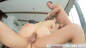 Allinternal both holes get filled with white cum