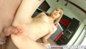 Allinternal blonde gets creampied after hardcore scene