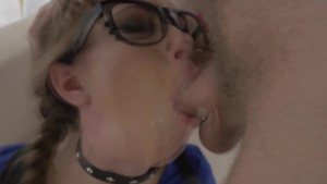 Bdsm date face cum drench