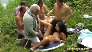 outdoor lederhosen groupsex orgy