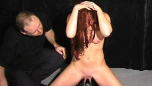 amateur bdsm and tit torture of kinky sub chaos in pussy clamped pain and hardcore hellpain whipping of redhead slave