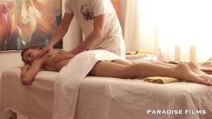 PARADISE FILMS Natural Russian Teen gets full massage