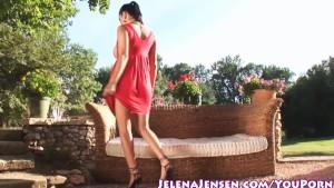 Busty Jelen Jensen Gets Nude Outside!