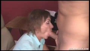 Angry Milf Slobbers And Sucks