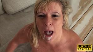 Mature british sub gets BDSM sex humiliation