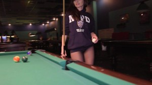 Jeny Smith - playing pool