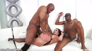 Kendra Lust interracial tag team and double facials