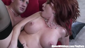 Redhead Mom Brittany O Connell Pierced Pussy In Sexy Stockings Fucked