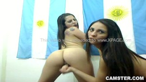 Argentina girl on girl football penalty