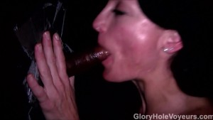 Gloryhole Slut Fucks Sucks Black Cock