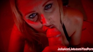 Busty Blonde Milf Julia Ann Gives Smoking BJ!