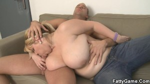 BBW with huge tits gets screwed hard