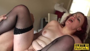British redhead sub Isabel dominated with sex