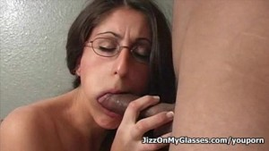 Sexy Dasha sucks and licks cock for hot cum all over her face