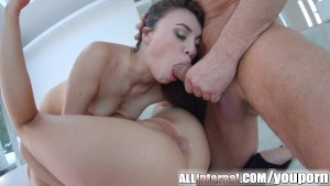 Allinternal girls lap up anal creampie and suck cock