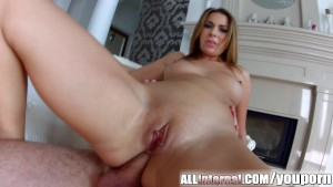 Cute blondie Ani Black Fox on All Internal gets double penetration creampie