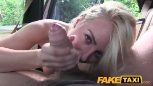 FakeTaxi Big tits and great curvy body sucks dick