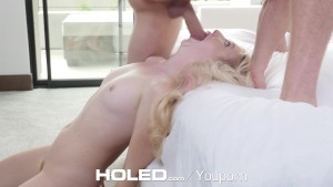HOLED - Samantha Rone squirting from anal pounding