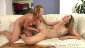 Blonde pissing lesbians love to lick pussy