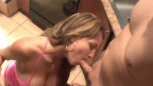 Kitchen Blowjob Extreme Blonde MILF
