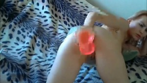 Her first time anal masturbation