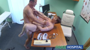 FakeHospital Sexy Aussie tourist with big tits loves doctors cum in pussy