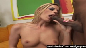AdultMemberzone – Hot blonde goes crazy for a big black cock