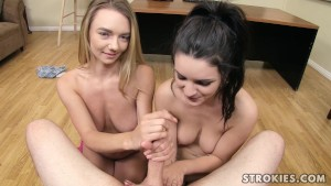 STROKIES Molly Mae and Kacey Quinn Handjob