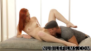 NubileFilms - Beautiful Redhead Gets Anal Payment