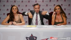 Nikki Benz & Tori Black judging girls blowjob skills in DPStar Season 3 Episode 1