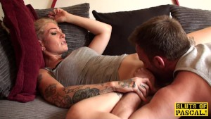Inked british skanks filthy cunt eaten out