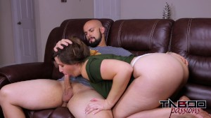 Big Ass MILF Madisin Lee Fucks younger cock and gets Creampie for Christmas