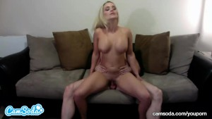 big tits big ass blonde fucks big dick dude trying to squirt after deep throat