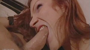 Horny Redhead Babe Sucking Cock & Swallowing